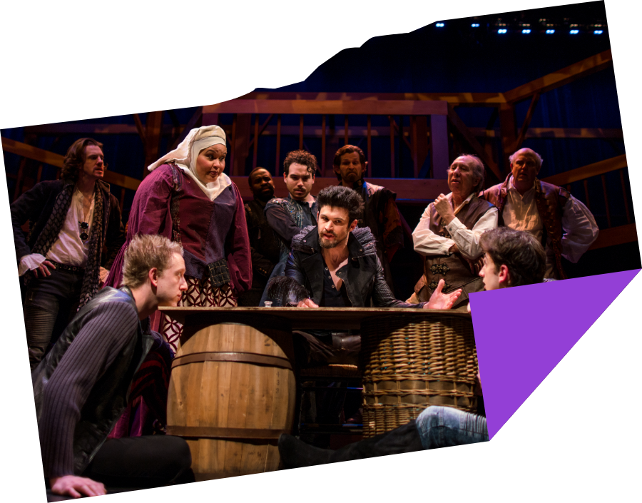 George Olesky with the cast of Shakespeare in Love (2018). Photo by Nile Scott Studios.