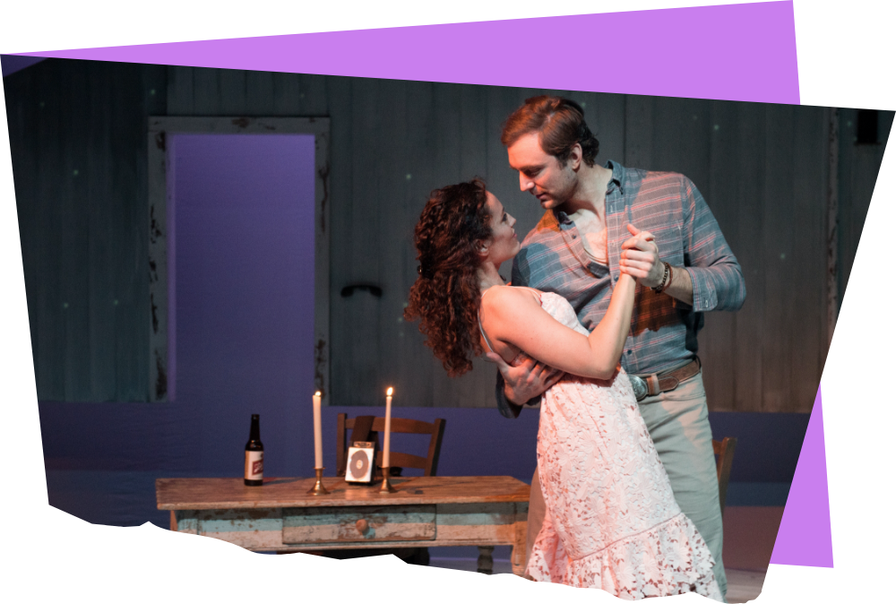 Jennifer Ellis and Christiaan Smith in The Bridges of Madison County (2017). Photo by Glenn Perry Photography.