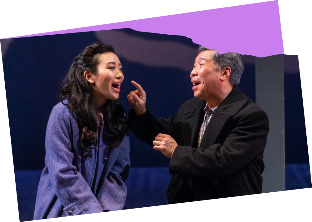 Grace Yoo and Gary Thomas Ng in Allegiance (2018). Photo by Nile Scott Studios.